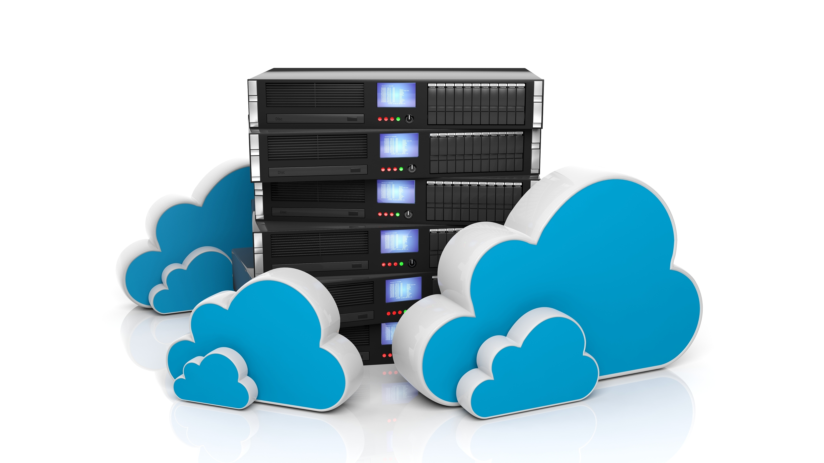 Server Rack and Cloud Services Image - Migrate On Premise Microsoft SharePoint to Office365, let go of servers