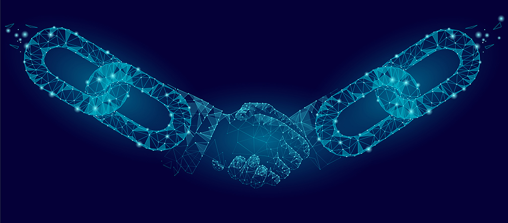 Chateaux announces IBM blockchain partnership - abstract handshake image