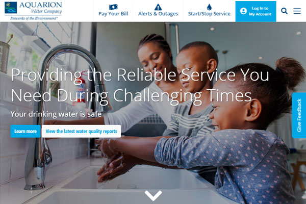 Chateaux performs website redesign for Aquarion to improve user experience